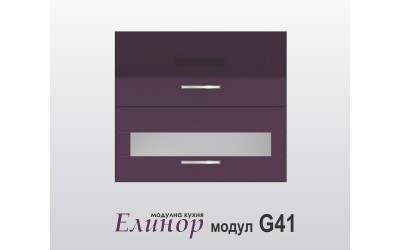 Горен кухненски шкаф Модул Елинор G41 МДФ - 80 см.
