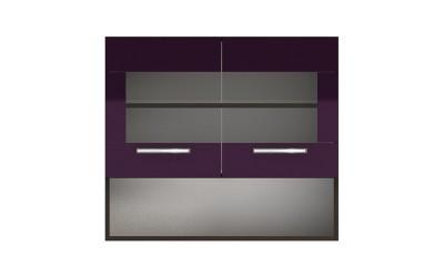 Горен кухненски шкаф с две витрини и ниша Елинор G58 МДФ - 80 см.