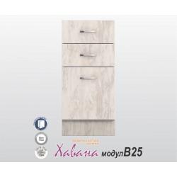 Кухненски долен шкаф Хавана B25 40 см. - дъб бланко