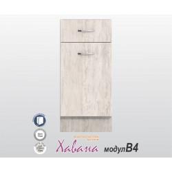 Кухненски долен шкаф Хавана B4 40 см. - дъб бланко