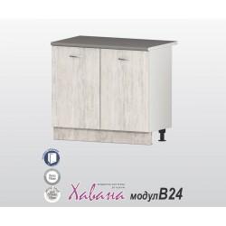 Кухненски долен шкаф Хавана B24 100 см. - дъб бланко