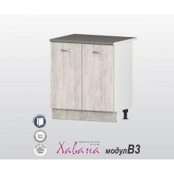 Кухненски долен шкаф Хавана B3 80 см. - дъб бланко