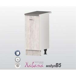 Кухненски долен шкаф Хавана B5 40 см. - дъб бланко