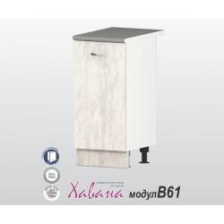 Кухненски долен шкаф Хавана B61 35 см. - дъб бланко