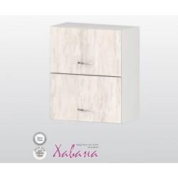 Горен кухненски шкаф с хоризонтални врати Хавана G32 60 см. - дъб бланко