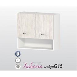 Горен кухненски шкаф Хавана G15 80 см. - дъб бланко
