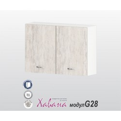 Горен кухненски шкаф Хавана G28 100 см. - дъб бланко