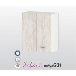 Горен кухненски шкаф Хавана G31 60 см. с врата за ъгъл - дъб бланко