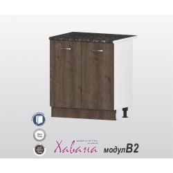 Кухненски долен шкаф Хавана B2 80 см. - дъб марон