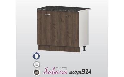 Кухненски долен шкаф Хавана B24 100 см. - дъб марон