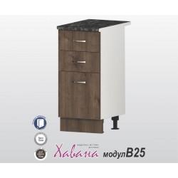 Кухненски долен шкаф Хавана B25 40 см. - дъб марон
