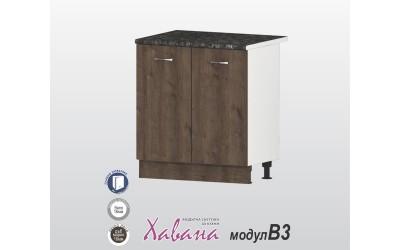 Кухненски долен шкаф Хавана B3 80 см. - дъб марон