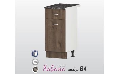Кухненски долен шкаф Хавана B4 40 см. - дъб марон