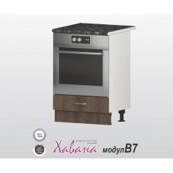 Кухненски шкаф за фурна Хавана B7 60 см. - дъб марон