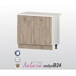 Кухненски долен шкаф Хавана B24 100 см. - дъб норте