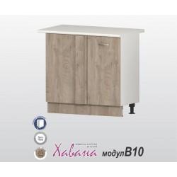 Долен ъглов кухненски шкаф Хавана B10 100 см. - дъб норте