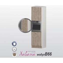 Колонен кухненски шкаф Хавана B66 60 см. - дъб норте