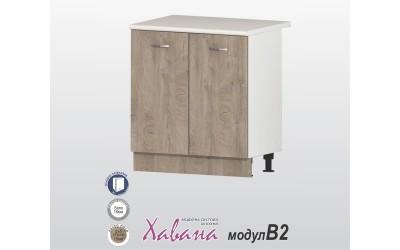 Кухненски долен шкаф Хавана B2 80 см. - дъб норте