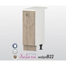 Кухненски долен шкаф Хавана B22 30 см. - дъб норте