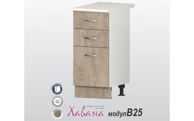 Кухненски долен шкаф Хавана B25 40 см. - дъб норте