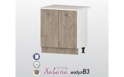 Кухненски долен шкаф Хавана B3 80 см. - дъб норте