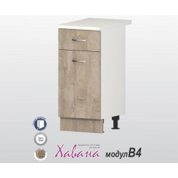 Кухненски долен шкаф Хавана B4 40 см. - дъб норте