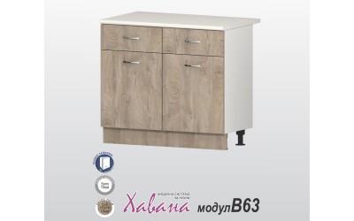 Кухненски долен шкаф Хавана B63 100 см. - дъб норте
