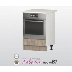 Кухненски шкаф за фурна Хавана B7 60 см. - дъб норте