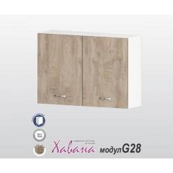 Горен кухненски шкаф Хавана G28 100 см. - дъб норте