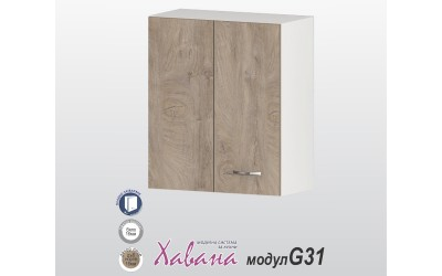 Шкаф Хавана G31 60 см. с врата за ъгъл - дъб норте