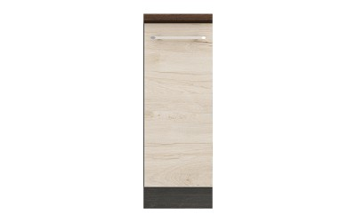 Долен кухненски шкаф Ванеса B22 с една врата - рокфорд лайт/дъб карбон - 30 см.