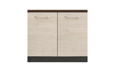 Долен кухненски шкаф Ванеса B24 с две врати - рокфорд лайт/дъб карбон- 100 см.