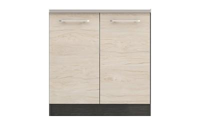 Долен кухненски шкаф Ванеса B3 за мивка - рокфорд лайт/дъб карбон - 80 см.