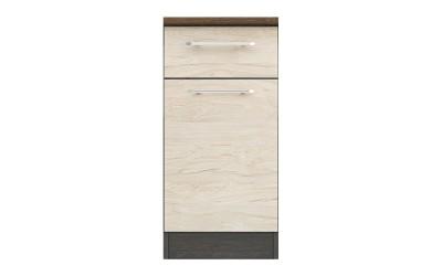 Долен кухненски шкаф Ванеса B4 с чекмедже и врата - рокфорд лайт/дъб карбон - 40 см.