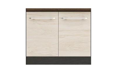 Долен кухненски шкаф Ванеса B50 за печка Раховец - рокфорд лайт/дъб карбон- 60 см.