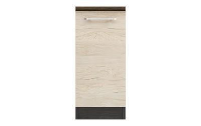 Долен кухненски шкаф Ванеса B61 с една врата - рокфорд лайт/дъб карбон - 35 см.