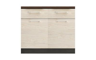 Долен кухненски шкаф Ванеса B63 с чекмеджета - рокфорд лайт/дъб карбон - 100 см.