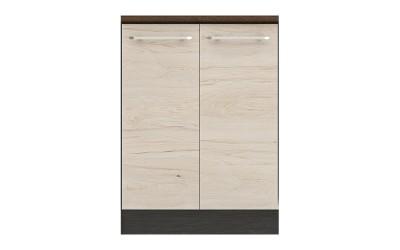 Долен кухненски шкаф Ванеса B68 за мивка - рокфорд лайт/дъб карбон - 60 см.