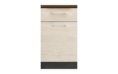 Долен кухненски шкаф Ванеса B75 с чекмедже и врата - рокфорд лайт/дъб карбон - 50 см.
