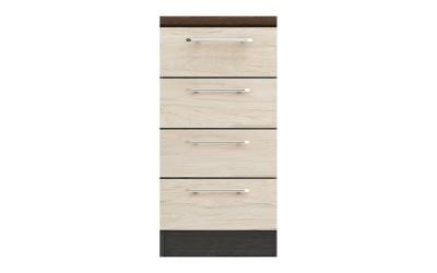 Долен кухненски шкаф Ванеса B78 с чекмеджета - рокфорд лайт/дъб карбон - 45 см.
