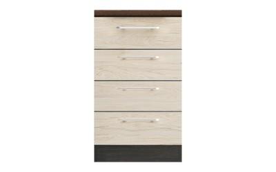 Долен кухненски шкаф Ванеса B79 с чекмеджета - рокфорд лайт/дъб карбон- 50 см.