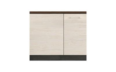 Долен кухненски шкаф Ванеса B10 за ъгъл - рокфорд лайт/дъб карбон - 90 см.