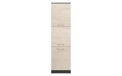Колонен кухненски шкаф Ванеса B66 за вграждане на фурна - рокфорд лайт/дъб карбон - 60 см.