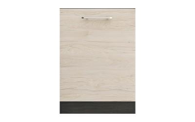 Кухненска врата Ванеса B65 за вграждане на съдомиялна - рокфорд лайт/дъб карбон - 60 см.