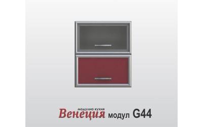 Горен шкаф с врата и витрина - Венеция G44