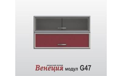 Горен шкаф с врата и витрина - Венеция G47