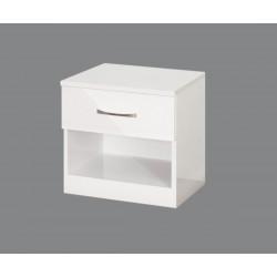 Нощно шкафче Аполо 1 - Бяло гланц