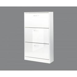 Шкаф за обувки Вектра 3 - Бяло гланц