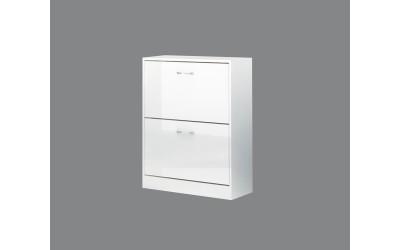 Шкаф за обувки Вектра 2 - Бяло гланц