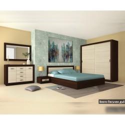 Спален комплект Болеро венге/пясъчен дъб
